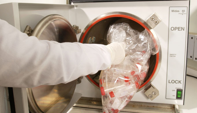 Equipment or items in the patient environment likely to have been contaminated with infectious body fluids must be handled in a manner to prevent transmission of infectious agents. This includes containing heavily soiled equipment, and properly cleaning and disinfecting or sterilizing reusable equipment before use on another patient.