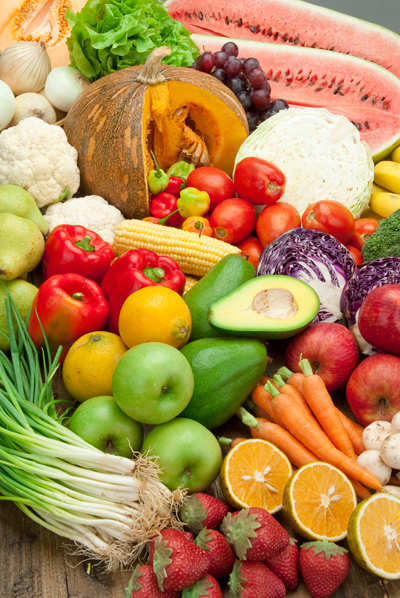 Fruits and starchy vegetables contain carbohydrates, which affect postprandial blood glucose levels.
