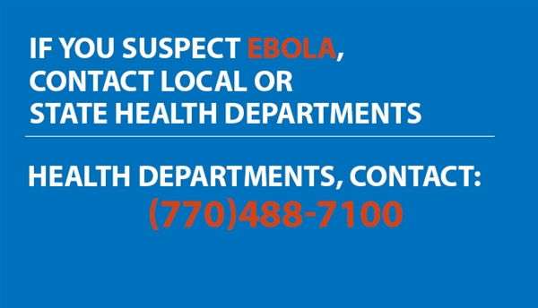 Clinicians evaluating a patient under investigation should contact their local or state health departments. Health departments should contact CDC EOC (770)488-7100.