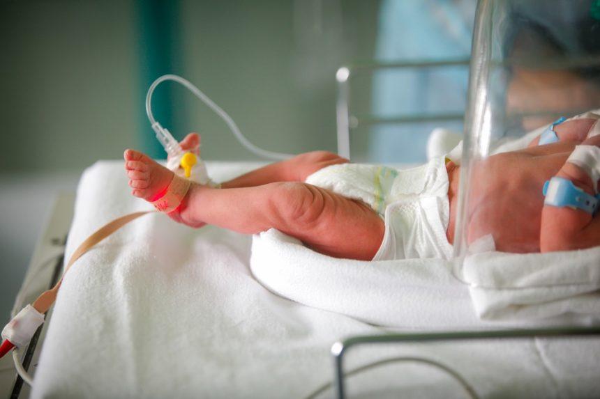 A newborn, preterm infant