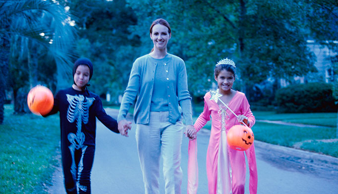 Limit the trick or treating route to a two or three block radius. That way the treats will most likely come from neighbors and friends, and the moderate amount of treats will be manageable.