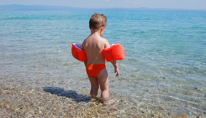 Never leave children alone near pools or other bodies of water unsupervised, even for a moment. Swimming knowledge or use of flotation devices cannot be considered a safe substitute for supervision.
