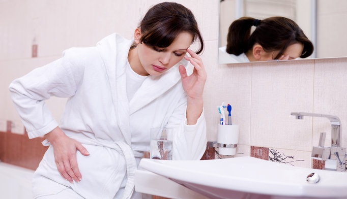 Nausea and vomiting were associated with a lower risk of pregnancy