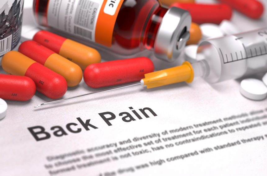 back pain and pills