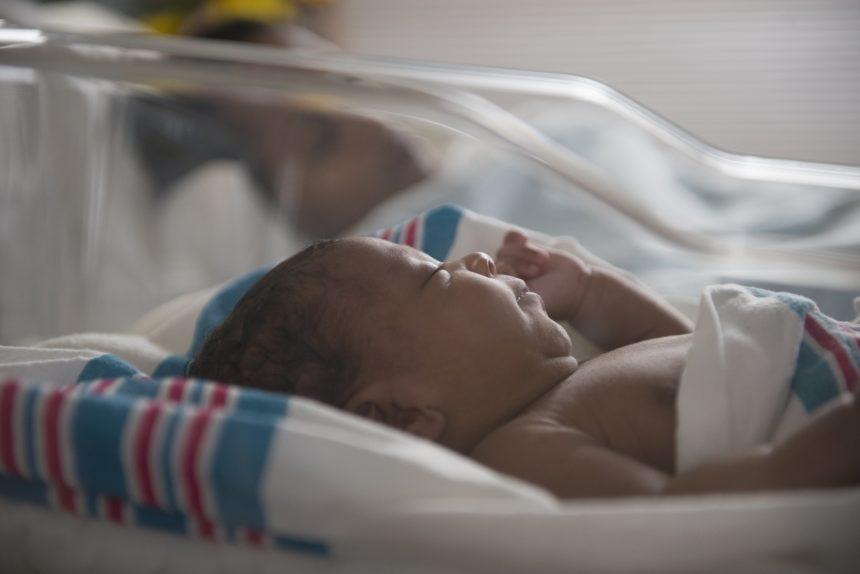 newborn infant in hospital