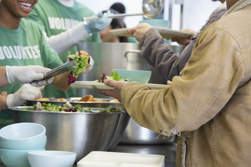 volunteering at a soup kitchen
